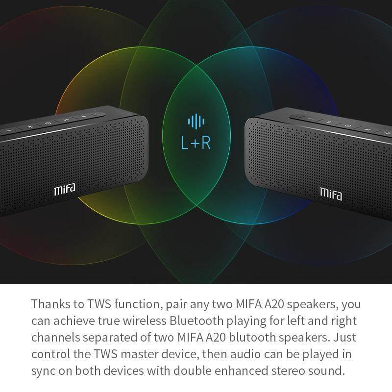 ซื้อ MIFA A20 Bluetooth Speaker (New Model)กำลังขับ 15 วัตต์