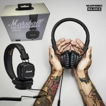 Marshall Major II 2 Generation Headphone Noise Isolating Earphone Over-Ear Headsets - intl