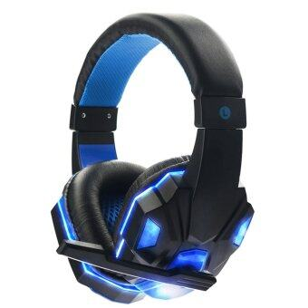 niceEshop Soyto 830 3.5mm Game Gaming Headphone Headset EarphoneHeadband With Microphone LED Light For Laptop (Blue) (INTL)