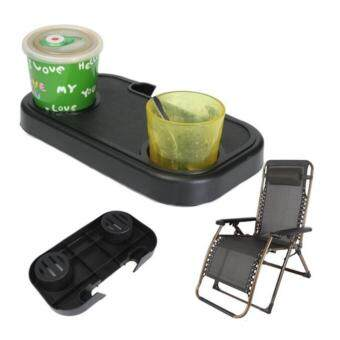 CocolMax Portable Folding Camping Picnic Outdoor Beach Garden Chair Side Tray For Drink - intl