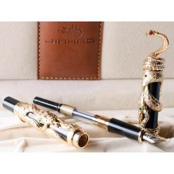 ... Writing Removable Ink Refill Converter Signature Calligraphy Classic Antique. Source · JinHao Gold Snake 3D Cobra Fountain Pen Medium Nib Golden Trim ...