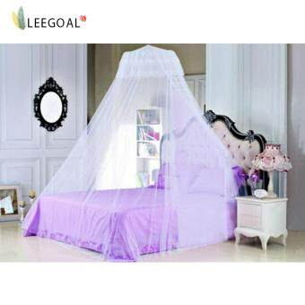 Leegoal Elegant Lace Bed Canopy Mosquito Net-White (Intl) - intl