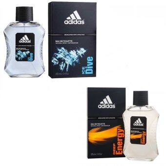 Adidas Ice Dive Adidas for men EDT 100 ml +Adidas Deep Energy Adidas for men 100 mlพร้อมกล่อง