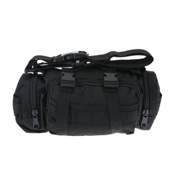 Camera Bag Shoulder Bag Tactics Bag Hanging MultifunctionPockets(Black) - intl