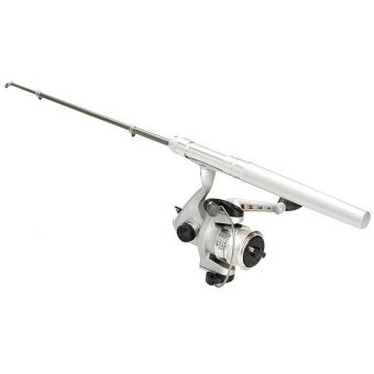 Telescopic Fishing Rod Pole Reel Mini Pocket Pen Type with NylonLine Set - intl