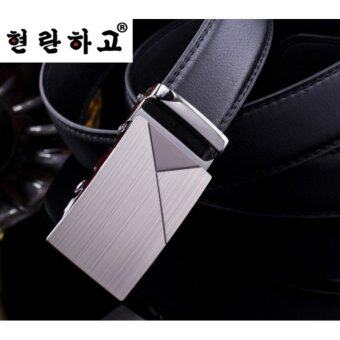 2017 Men's automatic belt buckle belt PU microfiber fashionbusiness - intl