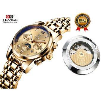 2017 Mechanical Watches Luxury Top Brand TEVISE Men Sport Watch Gold Clock Mens Calendar Automatic Wristwatch