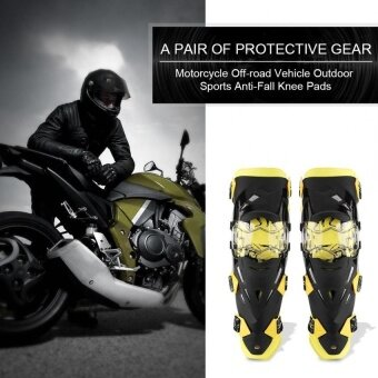 2pcs Motorcycle Motocross Cycling Knee Pads Breathable KneeletProtective Gear Set (Yellow) - intl