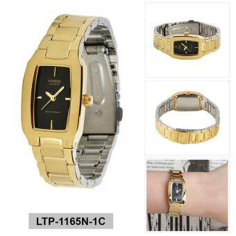 Casio Watch Enticer Gold Stainless-Steel Case Stainless-Steel Bracelet Ladies NWT + Warranty LTP-1165N-1C