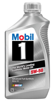 Mobil 1™ 5W-50 advanced full synthetic motor oil Made in USA สังเคราะห์แท้100%