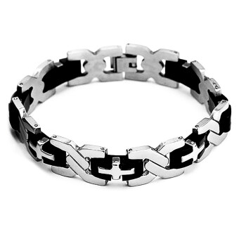 Moonar Men Fashion Cool Titanium Steel Hand Chain Bracelets