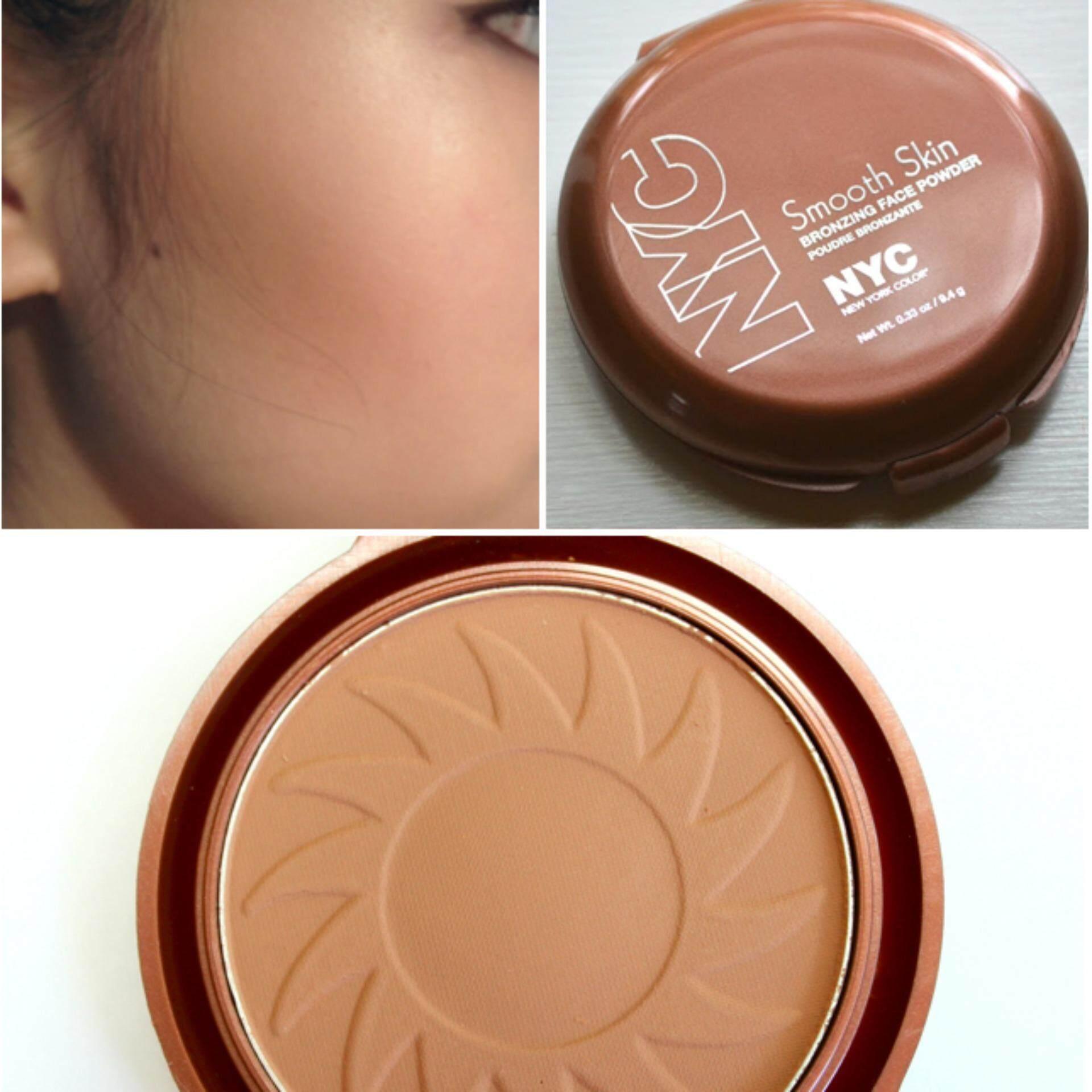 โปรโมชั่น ของแท้ หน้าเรียวด้วย Nyc บรอนเซอร์ Smooth Skin Bronzing Face Powder สี Sunny 9 4G