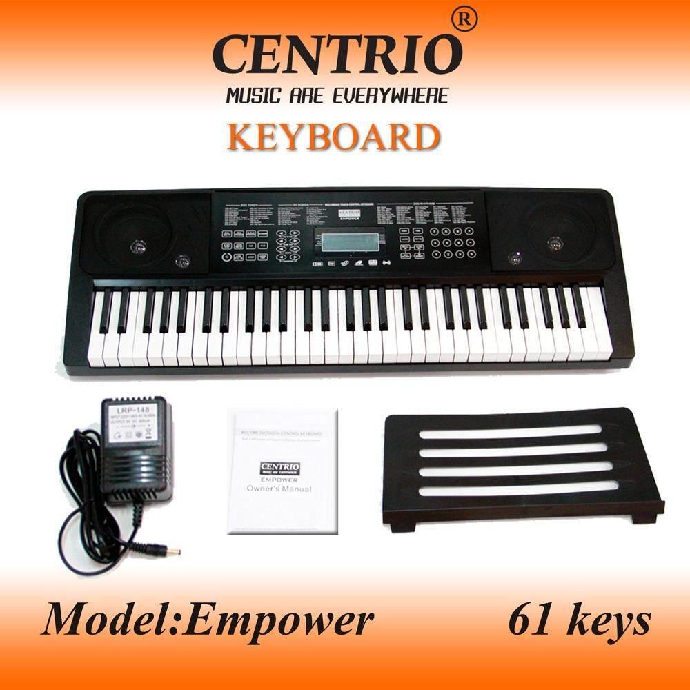 Centrio คีย์บอร์ด 61 คีย์ รุ่น EMPOWER MP3Touch control panel (จอLCD) แถมฟรี อแดปเตอร์+ที่วางโน๊ต และการรับประกัน 1 ปี!!!