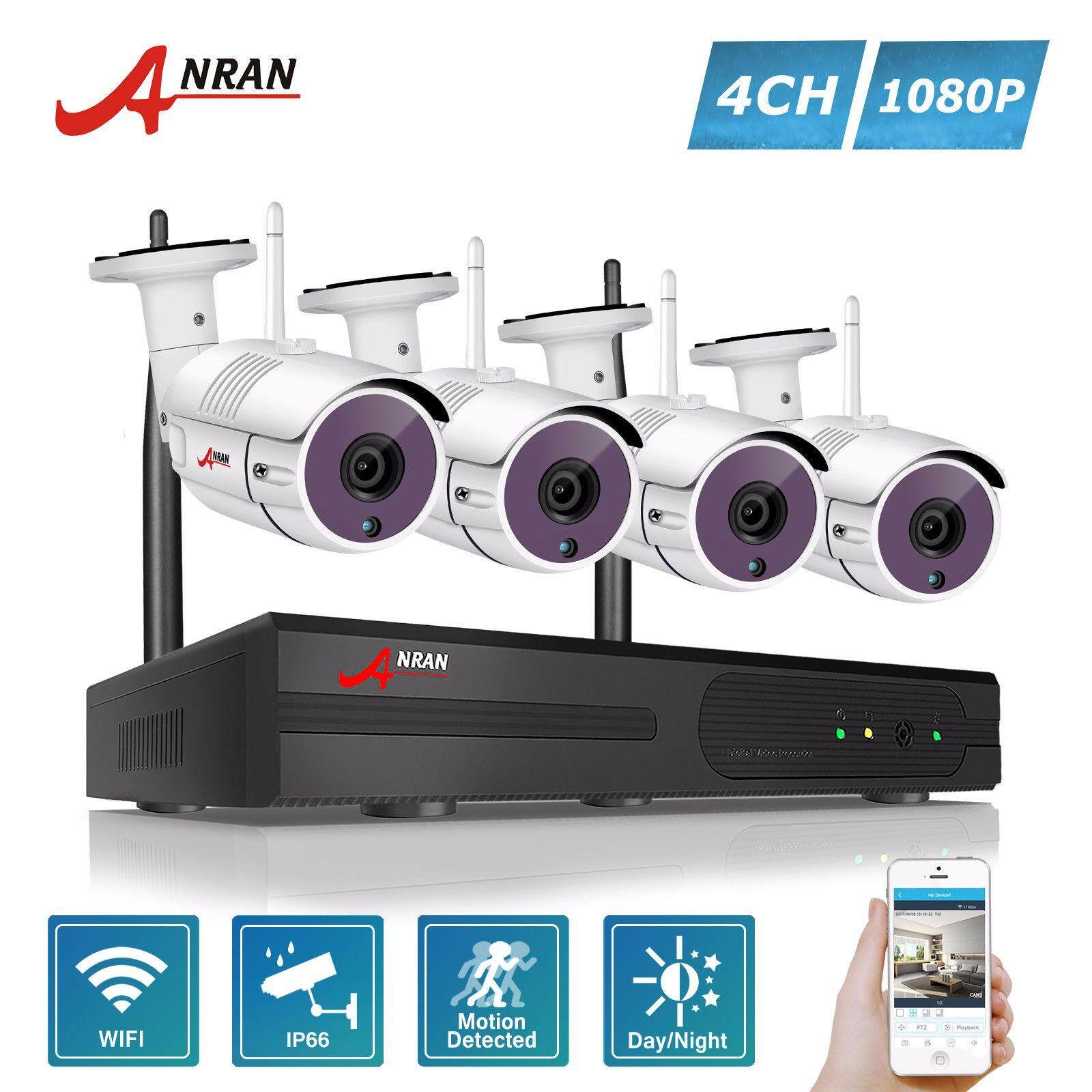 ราคา Anran 4Ch Wireless Nvr Security Cctv System P2P 1080P Hd Outdoor Vandalproof Wfi Ip Camera