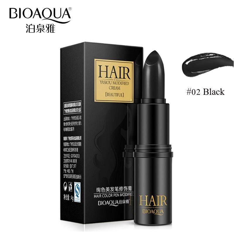 ขาย Bioaqua Hair Color Pen Modified Cream 02 Black ปากกาเปลี่ยนสีผมชั่วคราว ในรูปแบบลิปสติก 1 ชิ้น เป็นต้นฉบับ