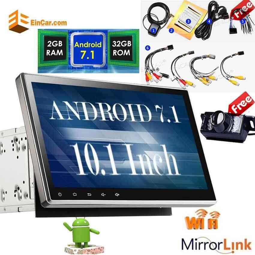 10.1 นิ้ว Double 2 Din Android 7.1 ระบบ Nougat 2GB RAM แอนตี้อะแดปเตอร์ระบบป้องกันการโจรกรรมรถยนต์หัวหน้าหน่วย GPS รองรับ 3G / 4G การควบคุมพวงมาลัย Bluetooth Camcorder 1080P กล้องวิดีโอด้านหลังแบบไร้สาย