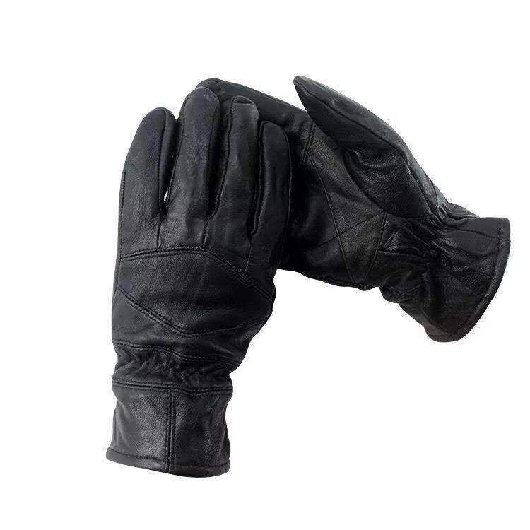 โปรโมชั่น ถุงมือหนังแท้ สีดำ