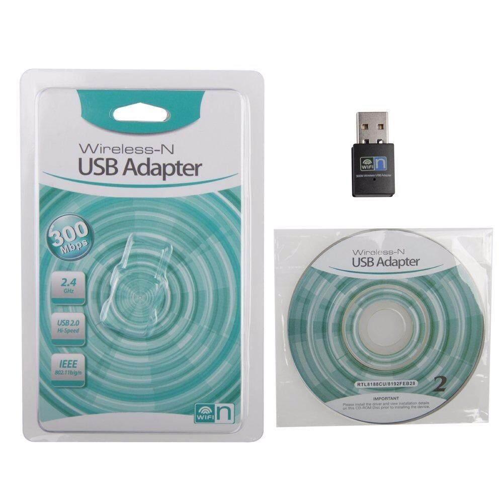 โปรโมชั่น ตัวรับ Wifi 300Mbps สำหรับคอมพิวเตอร์ โน้ตบุ๊ค แล็ปท็อป Usb 2 Wireless Wifi Adapter 802 11N 2 4Ghz 300Mbps เต็ม มีรับประกัน ของแท้ ตัวรับสัญญาณไวไฟ รับไวไฟความเร็วสูง ขนาดเล็กกระทัดรัด ใน กรุงเทพมหานคร