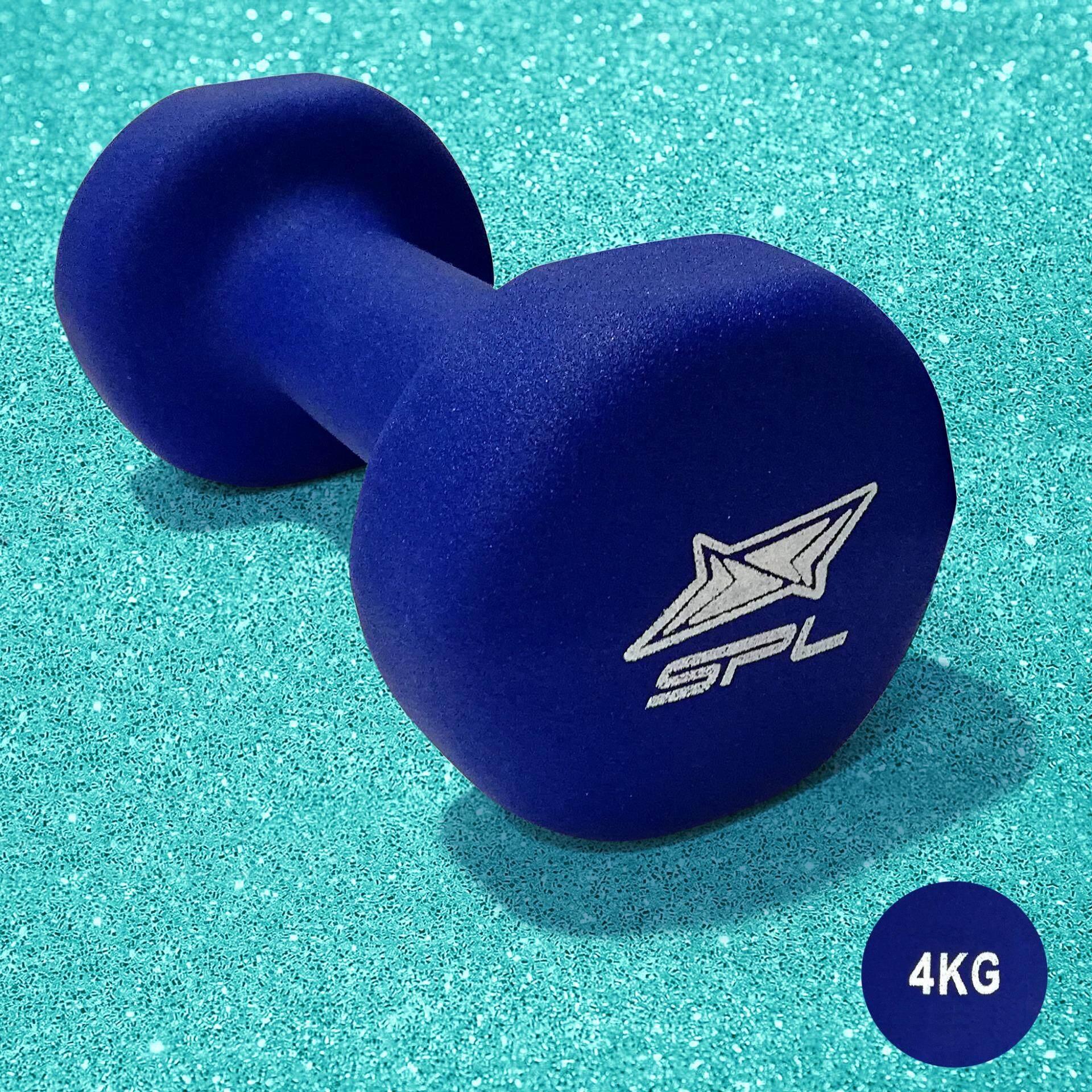 SPORTLAND ดัมเบล Neoprene Dumbbell Rubber 4 kg. รุ่น IR92004 (Blue)