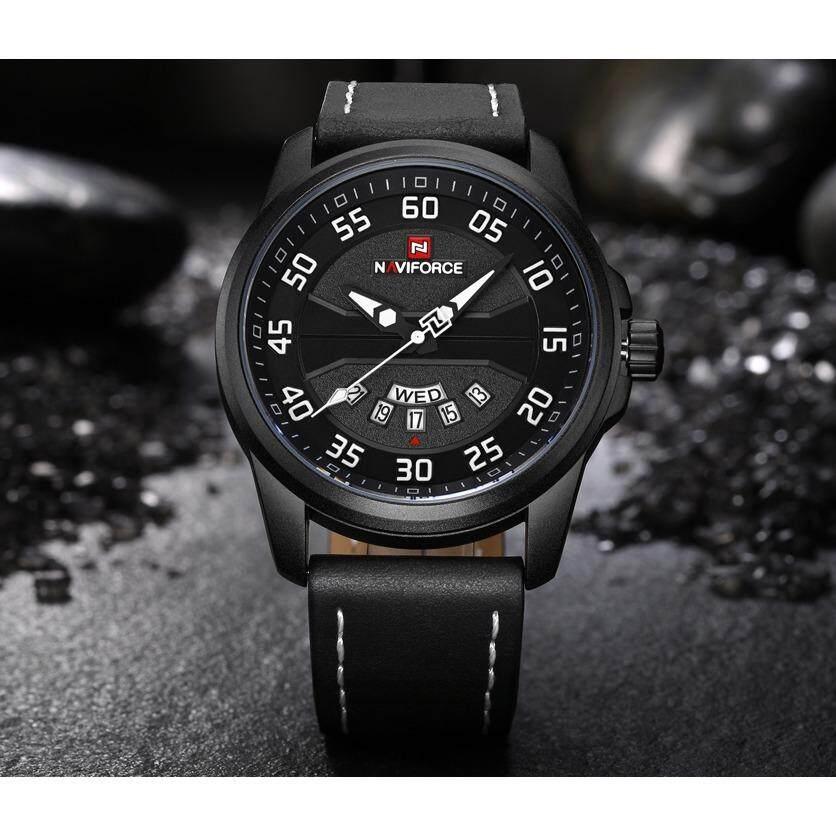 โปรโมชั่น เก็บเงินปลายทาง นาฬิกาข้อมือผู้ชาย Naviforce สายหนัง รุ่น Nf9124 Bwb ของแท้กันน้ำ 30 เมตรสินค้ารับประกัน 1 ปี ใน กรุงเทพมหานคร