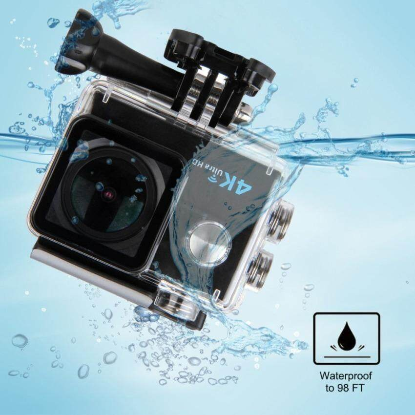 ราคา Ultra Action Camera H16 Black 4K Camera Wifi Full Hd 16Mp 2 Lcd Dual Screen Go Waterproof Pro Sport Camera For Camcorder Car Dvr Pro Action Camera กล้องถ่ายวิดีโอ ความระเอียด 4K ถ่ายใต้น้ำได้ 30 เมตร ถูก
