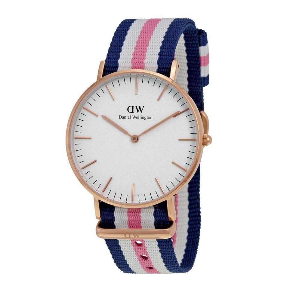 ราคา Daniel Wellington 0506Dw Classic Southampton White 36Mm นาฬิกาข้อมือ แฟชั่น ผู้หญิง สายไนล่อน สีทองแดง Women Watch Rose Gold Case Blue Pink Strap ราคาถูกที่สุด