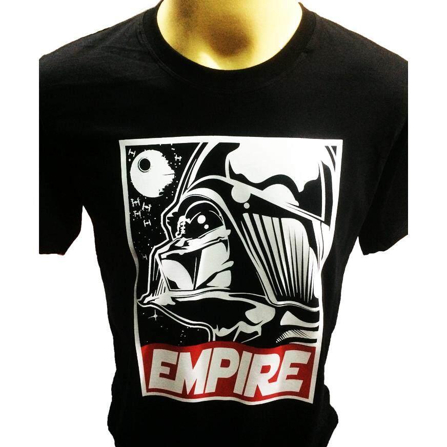 ขาย เสื้อยืดสกรีนลาย Darth Vader Empire Starwars สีดำ ถูก ใน กรุงเทพมหานคร