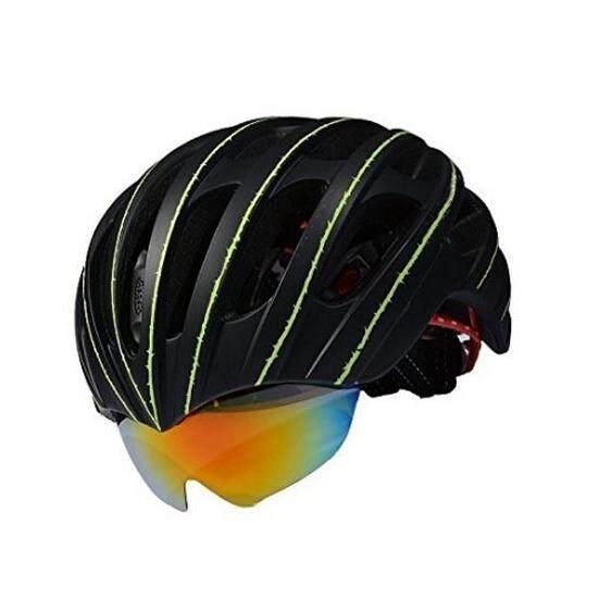 ซื้อ Pro Team Wt 049 หมวกจักรยานอินโมล์ด พร้อมแว่นในตัว และมีตาข่ายกันแมลง สีดำ ถูก ใน กรุงเทพมหานคร