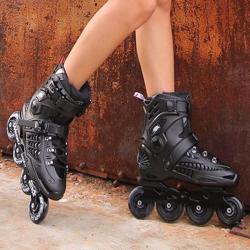 Skates รองเท้าอินไลน์สเก็ต ผู้ใหญ่ สวย แข็งแรงทนทาน ความปลอดภัย ใส่ได้ทั้งสองเพศ Size: S(38-39) M(40-41) L(42-44).