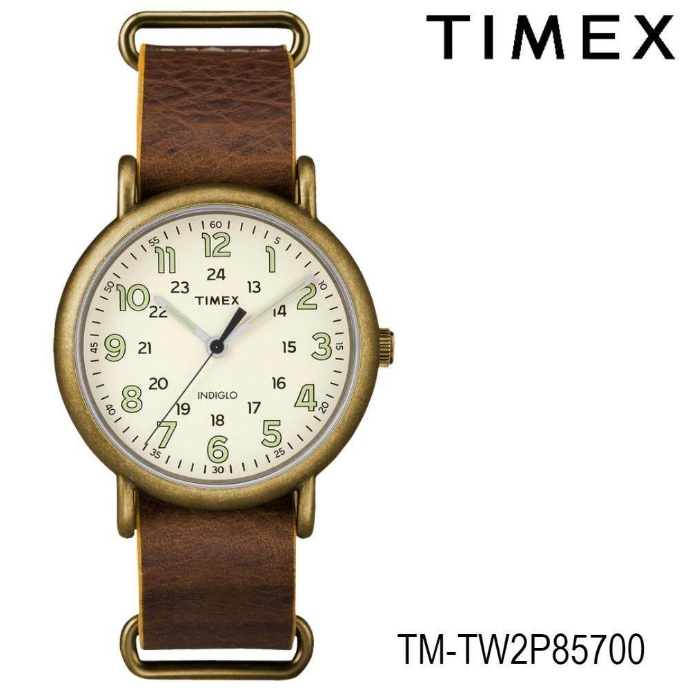 ขาย Timex Tm Tw2P85700 นาฬิกาข้อมือผู้หญิง สายหนัง สีน้ำตาล Timex เป็นต้นฉบับ