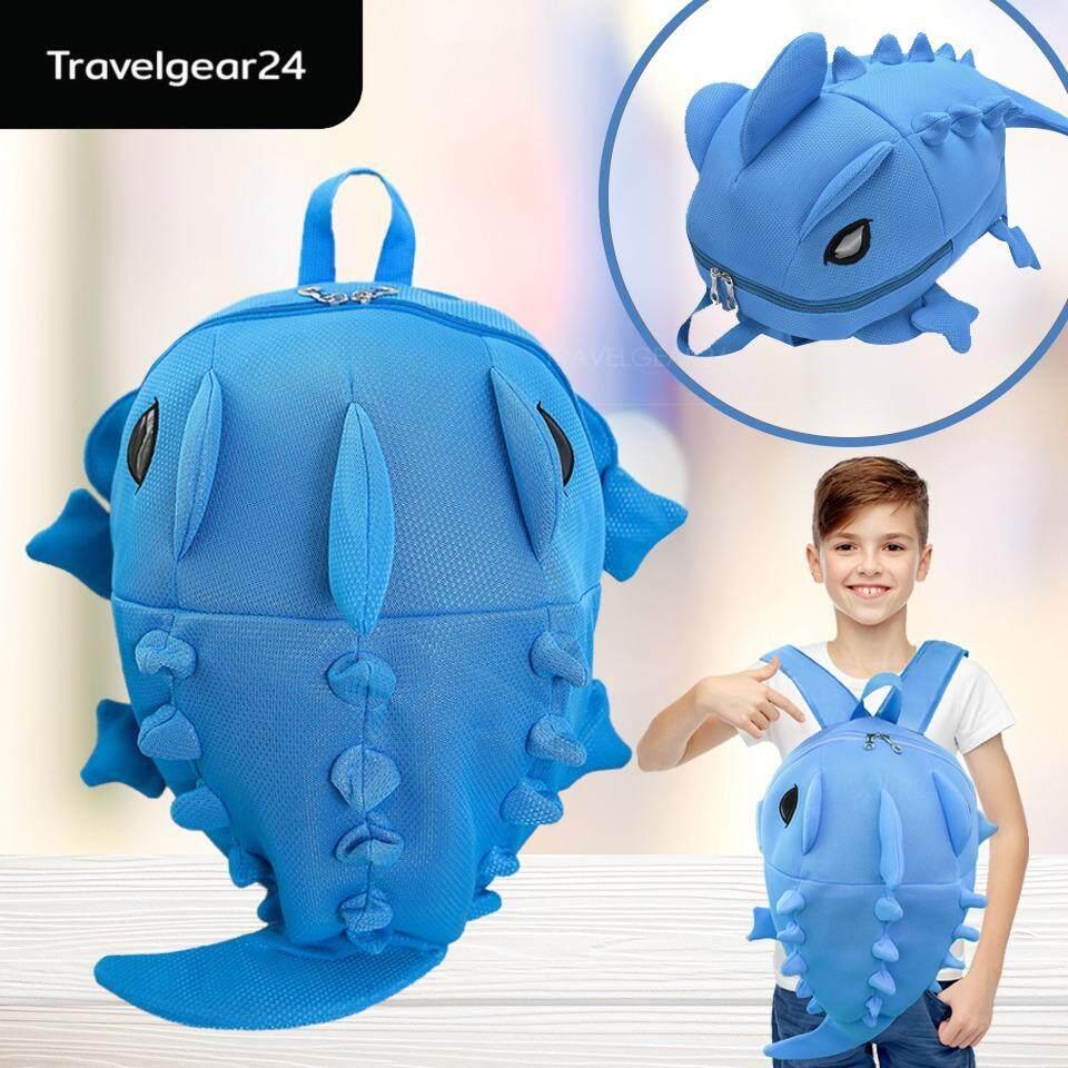 ราคา Travelgear24 กระเป๋าเป้สะพายหลัง กระเป๋าเป้เด็ก กระเป๋าเป้รูปไดโนเสาร์มอนสเตอร์ Dinosaur Monster Backpack ฺblue สีฟ้า เป็นต้นฉบับ Travelgear24