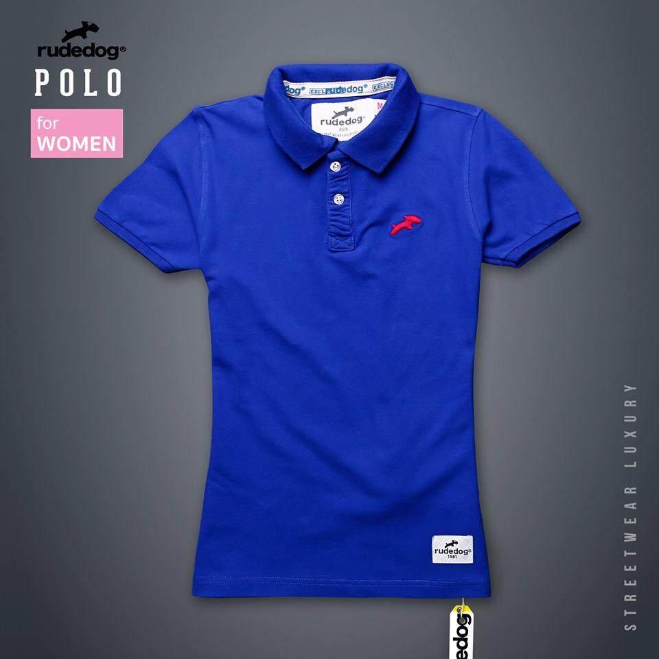 ราคา Rudedog เสื้อโปโล ผู้หญิง รุ่น Signature สีน้ำเงิน ใหม่