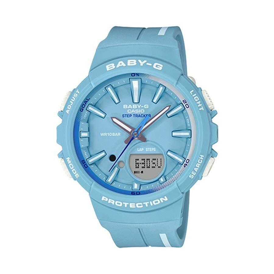 ราคา Casio Baby G นาฬิกาข้อมือผู้หญิง สายเรซิ่น รุ่น Bgs 100Rt 2A สีฟ้า Casio Baby G ใหม่