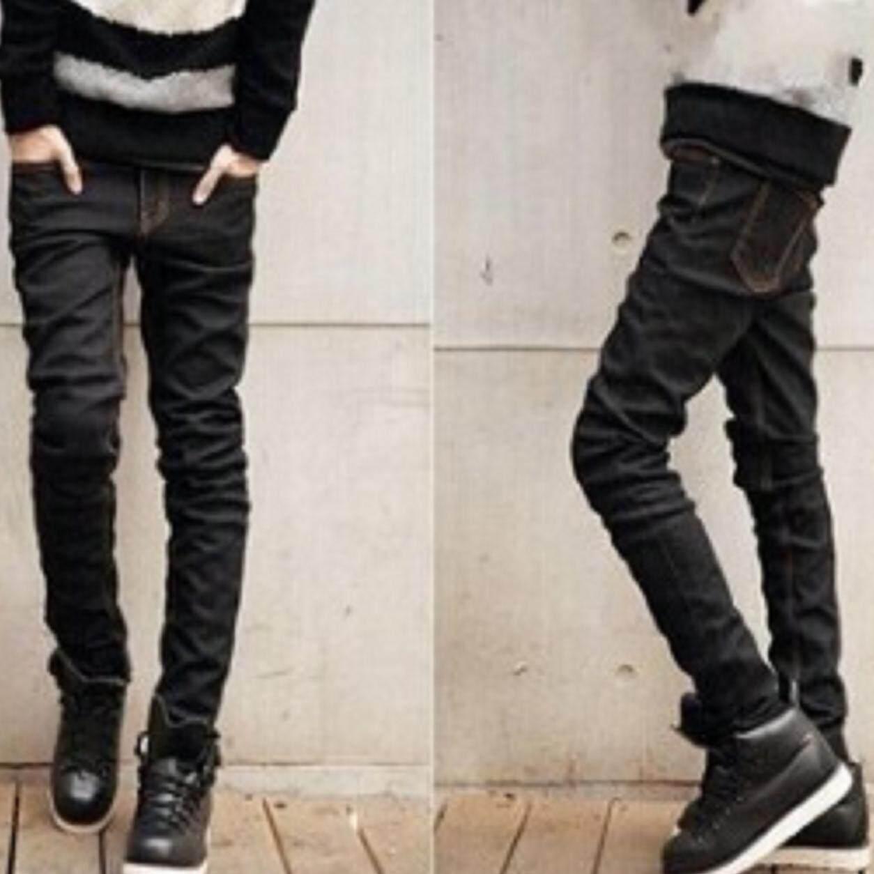 ขาย Style กางเกงยีนส์ ขายาว ดีไซน์เรียบ สวยเก๋ ผ้าเนื้อดี สีดำ รุ่น 411 ผู้ค้าส่ง