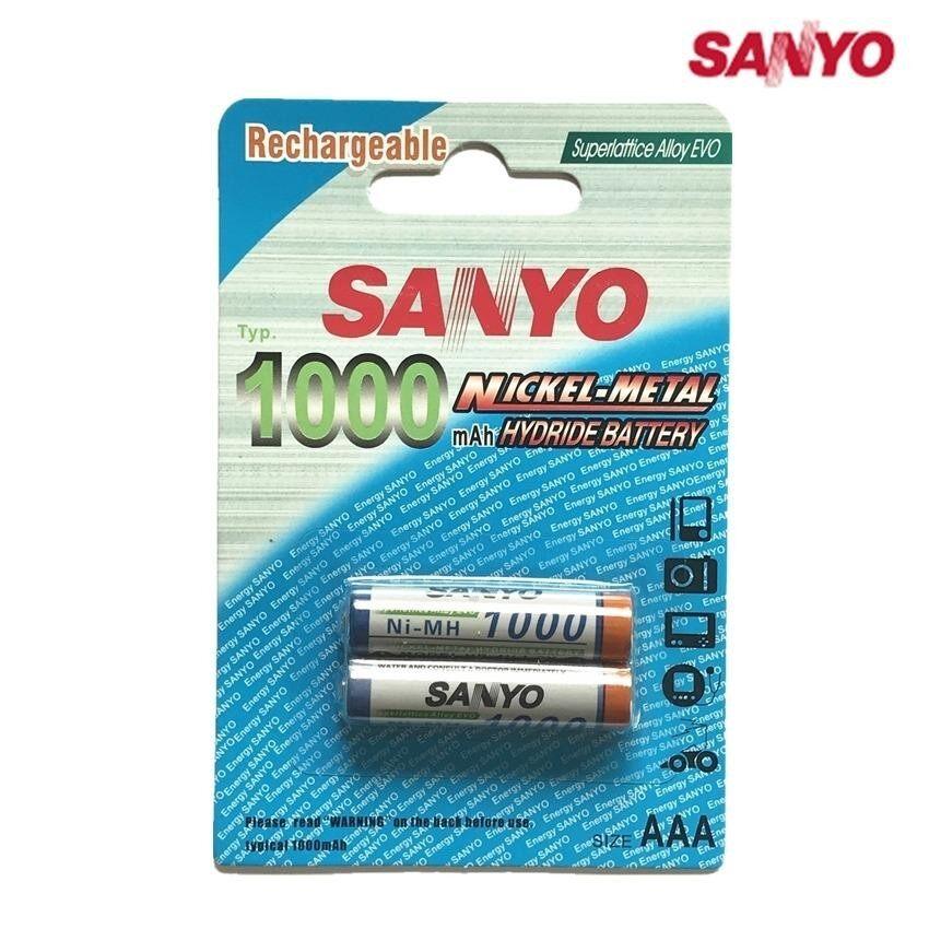 ทบทวน Sanyo ถ่านชาร์จ Aaa 1000 Mah Nimh Rechargeable Battery 2 ก้อน