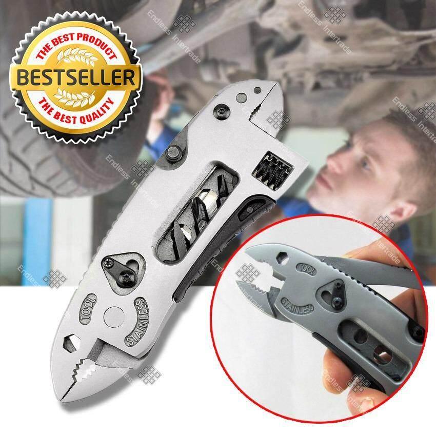 ราคา Elit ชุดเครื่องมือสารพัดประโยชน์ ไขควงแบบพกพา ประแจอเนกประสงค์ Adjustable Wrench Multitool รุ่น Ajw204 Sr เป็นต้นฉบับ Elit