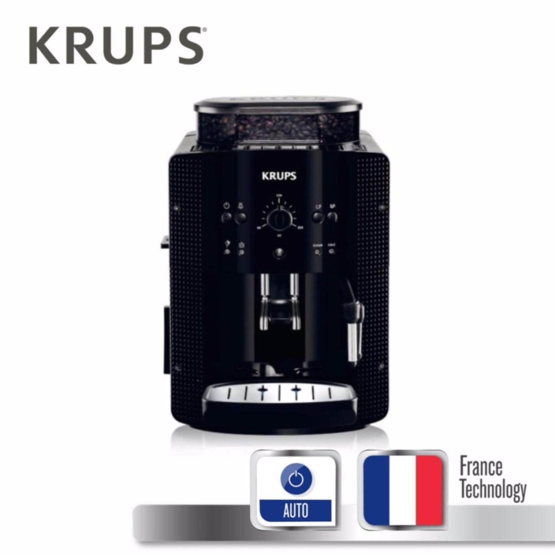 ซื้อ Krups เครื่องชงกาแฟอัตโนมัติ กำลังไฟ 1450 วัตต์ แรงดันไอน้ำ 15 บาร์ ความจุแท้งน้ำ 1 7 ลิตร รุ่น Ea8118 Black ใน Thailand