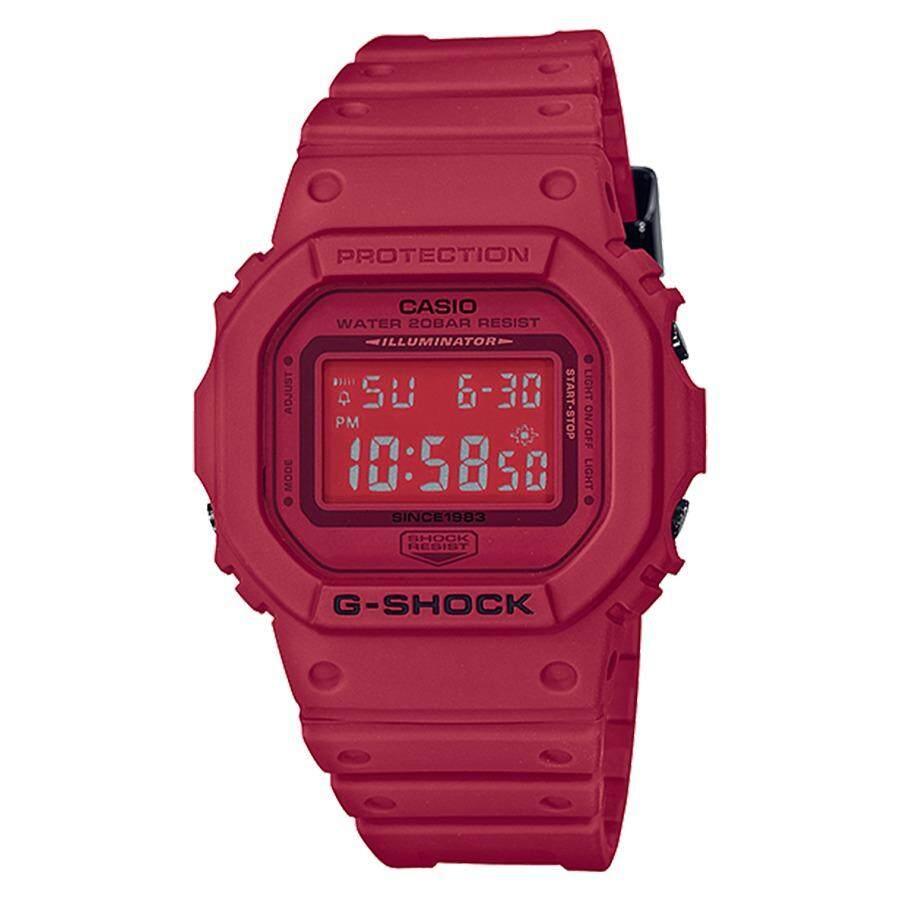 โปรโมชั่น Casio G Shock นาฬิกาข้อมือผู้ชาย สายเรซิ่น รุ่น Dw 5635C 4 Red Out Limited Edition สีแดง Casio G Shock