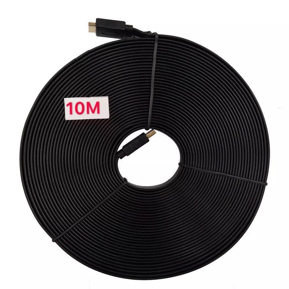 ขาย สาย Hdmi 10M เมตร V1 4 แบบแบน Black ออนไลน์ กรุงเทพมหานคร