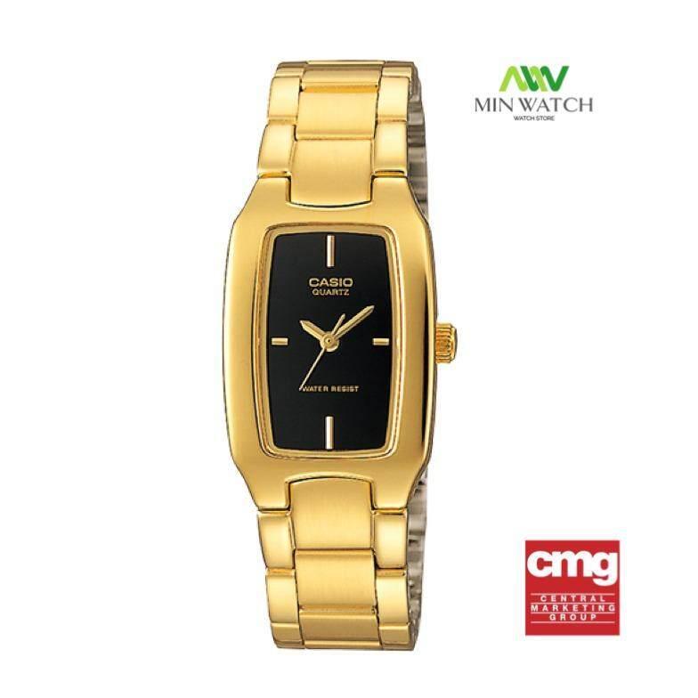 ซื้อ Casio นาฬิกาข้อมือผู้หญิง สีทอง ดำ สายสแตนเลส รุ่น Ltp 1165N 1Crdf ของ แท้100 ประกันศูนย์เซ็นทรัลCmg 1 ปี ออนไลน์ ไทย