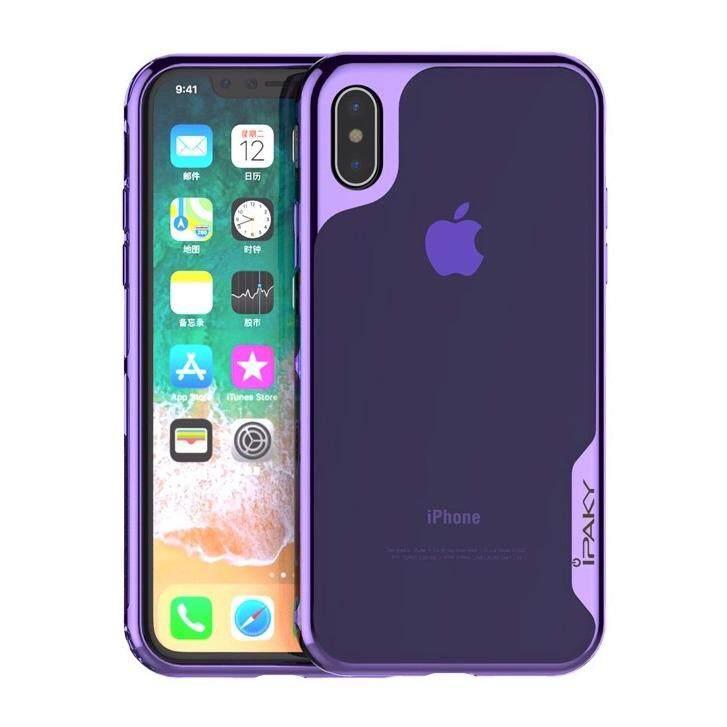 ขาย Ipaky Luxury Electroplated Clear Silicone Tpu Case For Apple Iphone X เคส ไอปากี้ รุ่นลักซ์ชัวรี่ อิเล็กโทรเพลต ซิลิโคน ทีพียู สำหรับ แอปเปิ้ล ไอโฟนสิบ หลังใส กันกระแทก กรุงเทพมหานคร ถูก