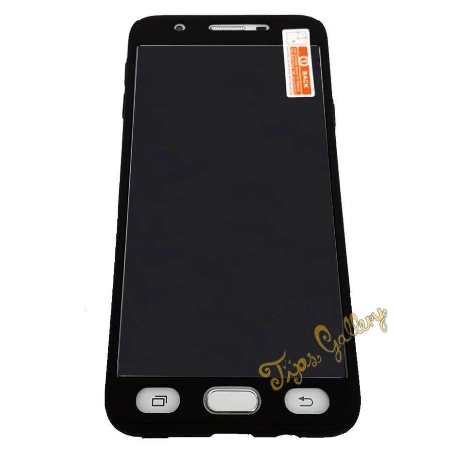 ขาย ซื้อ Tips Gallery เคสมือถือ สีดำ พร้อม กระจกนิรภัย สำหรับ Samsung Galaxy J7 Prime รุ่น Slim Armour Full Protection Passion Midnight Black