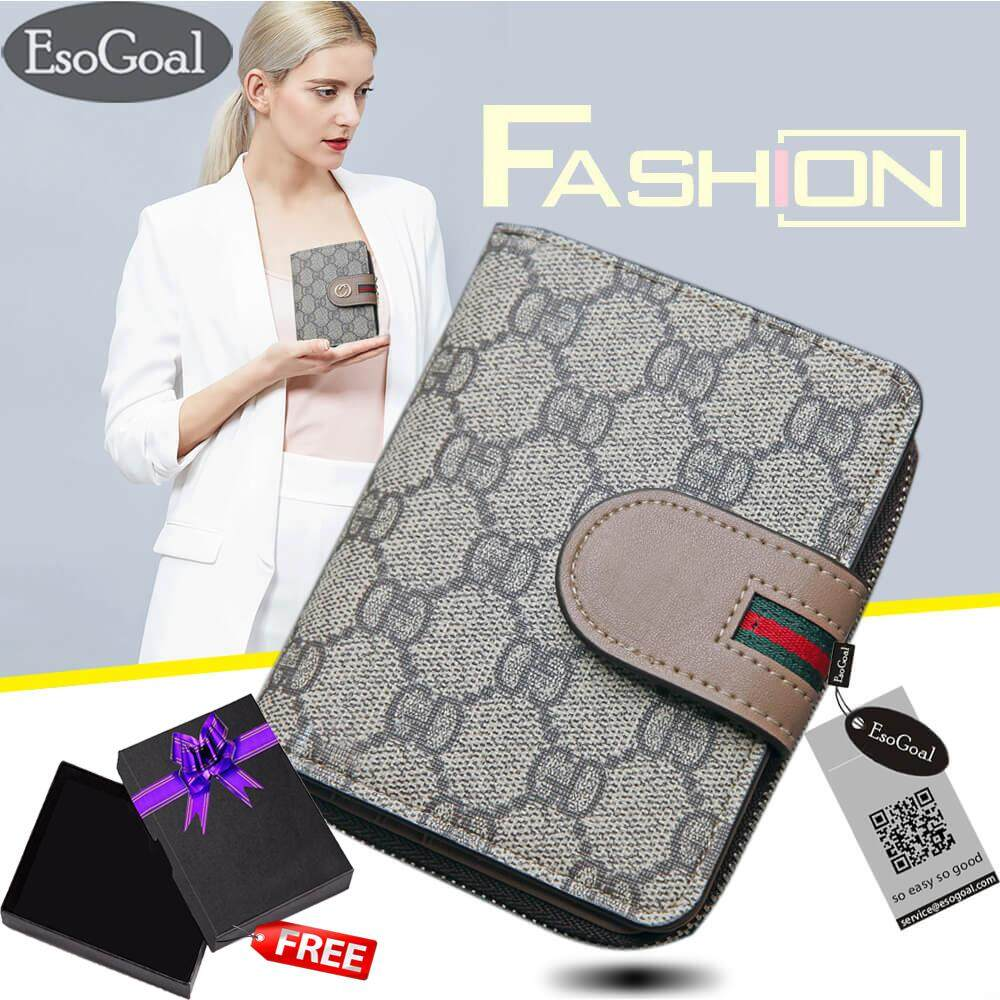 ราคา Jvgood Women Leather Credit Card Wallet Holder Mini Purse Zip Trifold Clutch Pocket Wallet Card Case ใหม่ล่าสุด