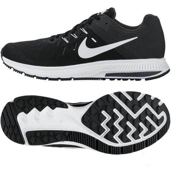 ราคา Nike รองเท้าวิ่งผู้ชาย ลำลอง ฟิตเนส Nike Zoom Winflo 2 ลิขสิทธิ์แท้ สีดำขาว ราคาถูกที่สุด