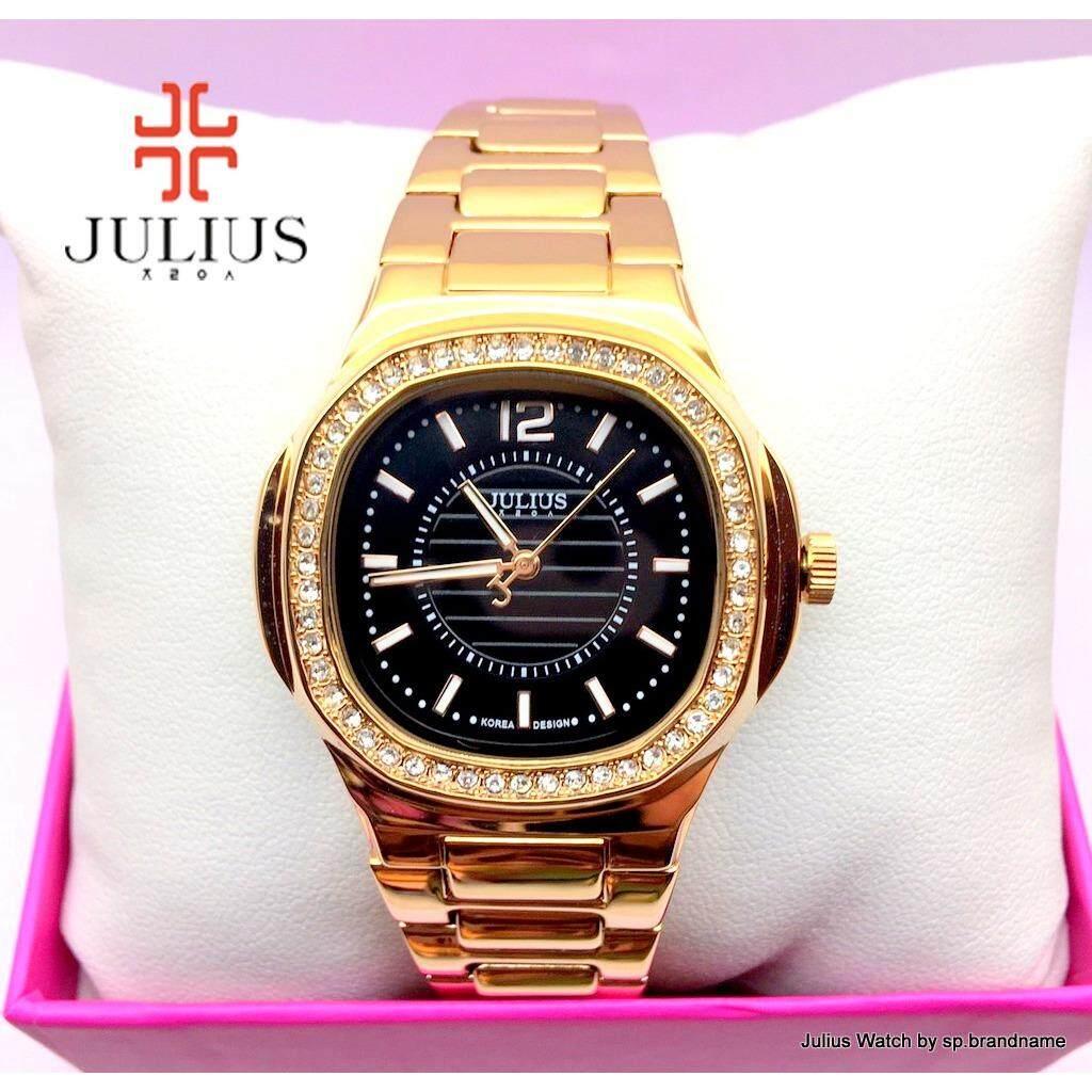 ราคา Julius Watch นาฬิกาข้อมือผู้หญิง รุ่น Ja 711 สายสีโรสโกลด์หน้าปัดสีดำ Rosegold Julius Watch By Sp Brandname