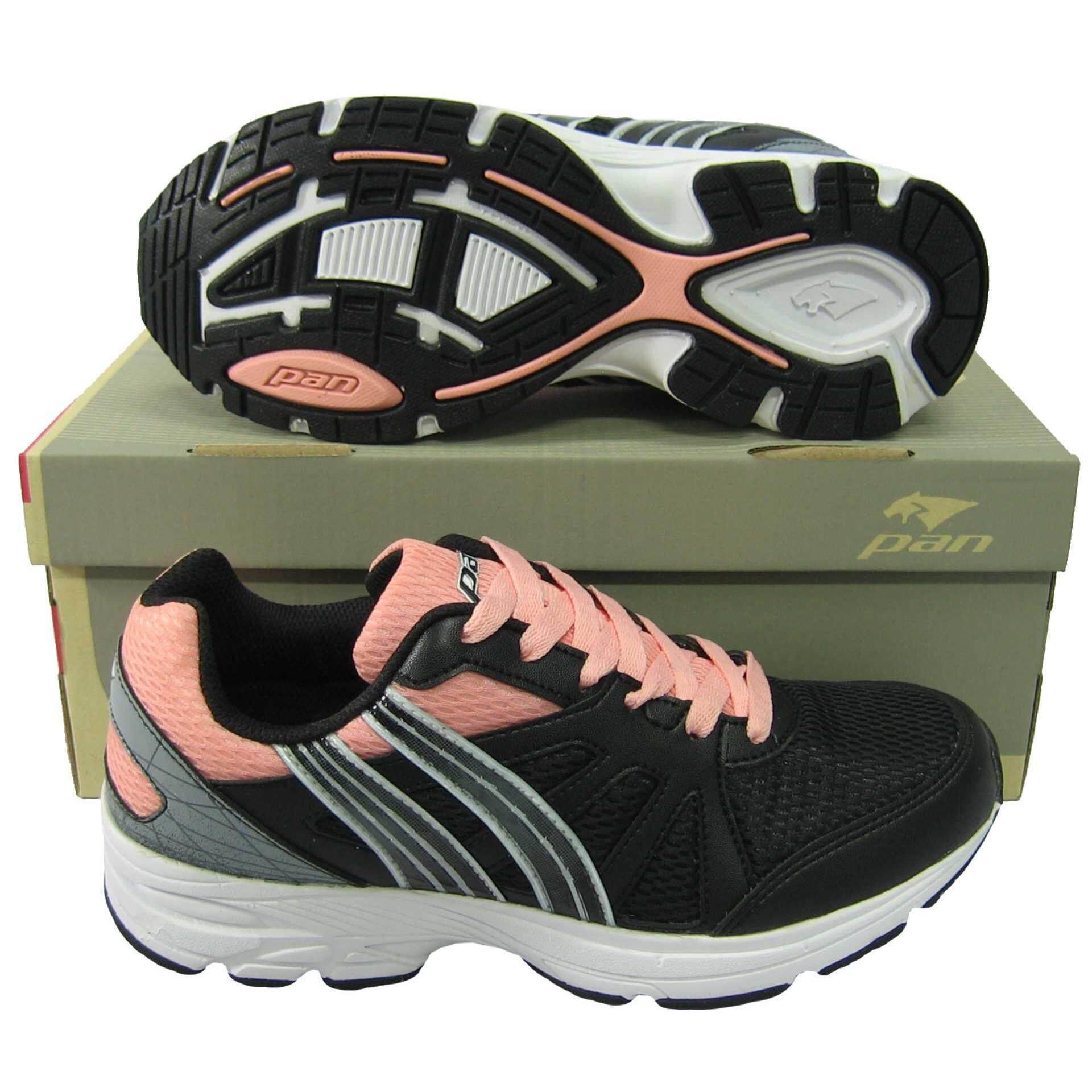 ส่วนลด สินค้า รองเท้าวิ่ง รองเท้าจ๊อกกิ้ง Pan Pf 16M1 Runday 5 ดำชมพู