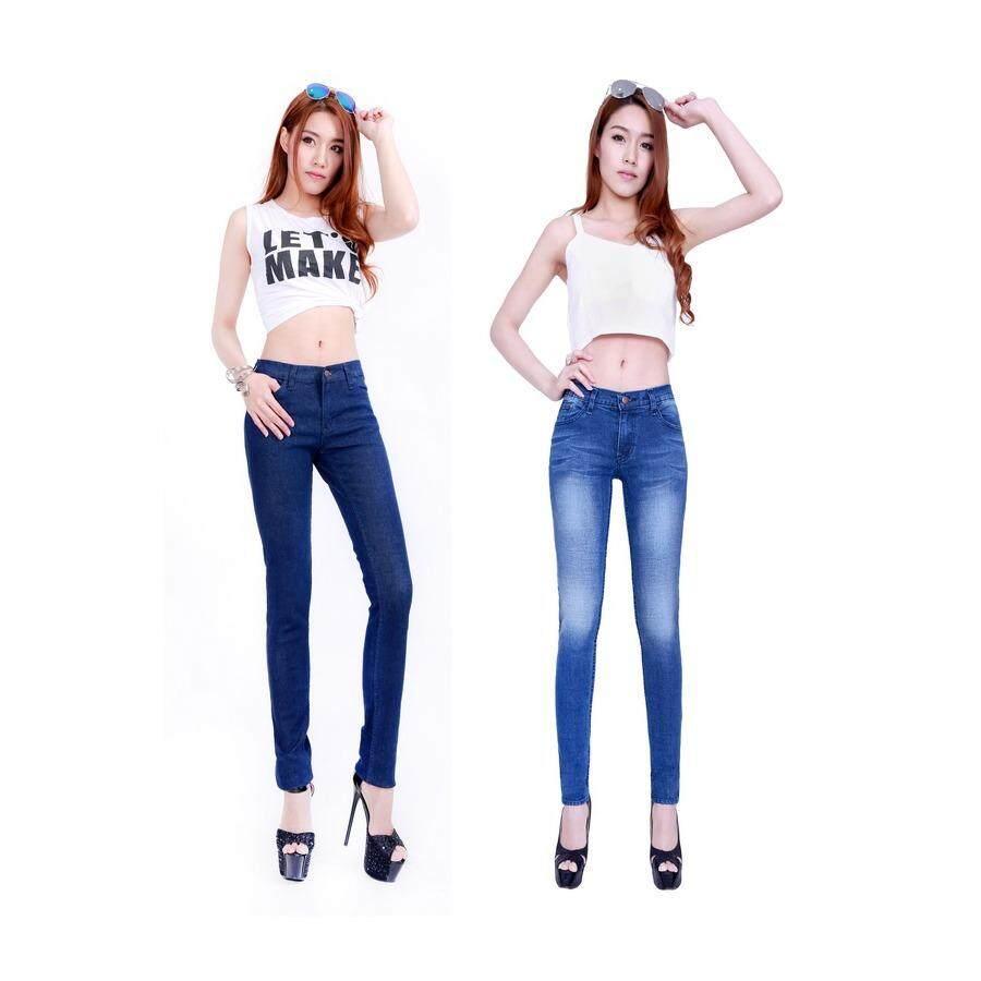 ซื้อ Eiffel Jeans กางเกงยีนส์ ขายาว สกินนี่ แพ็คคู่ ราคาพิเศษ