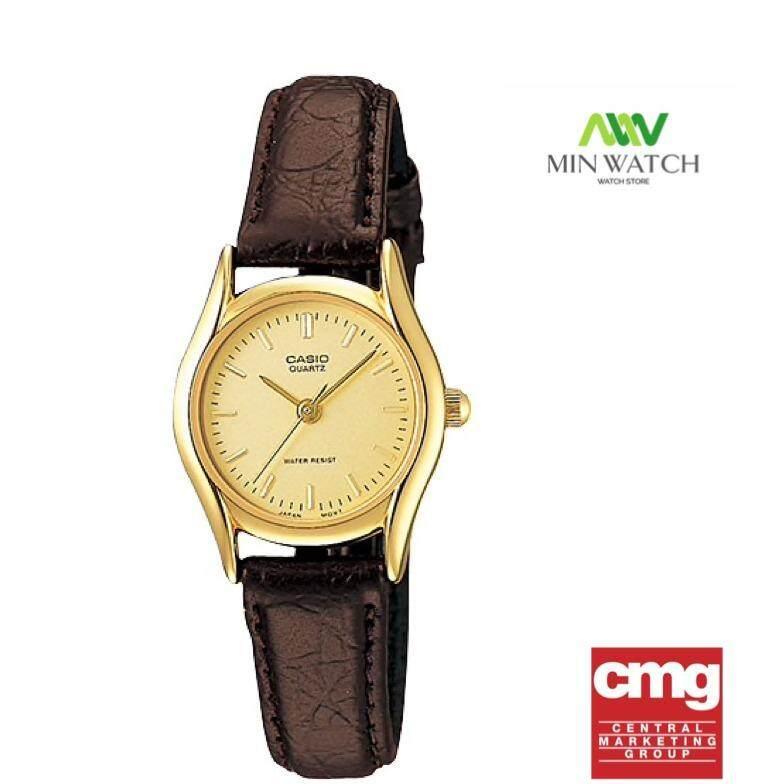 ขาย ซื้อ Casio Standard นาฬิกาข้อมือผู้หญิง สีทอง สายหนังสีน้ำตาล รุ่น Ltp 1094Q 9A สินค้าของใหม่ของแท้100 ประกันศูนย์เซ็นทรัลCmg 1 ปี ไทย