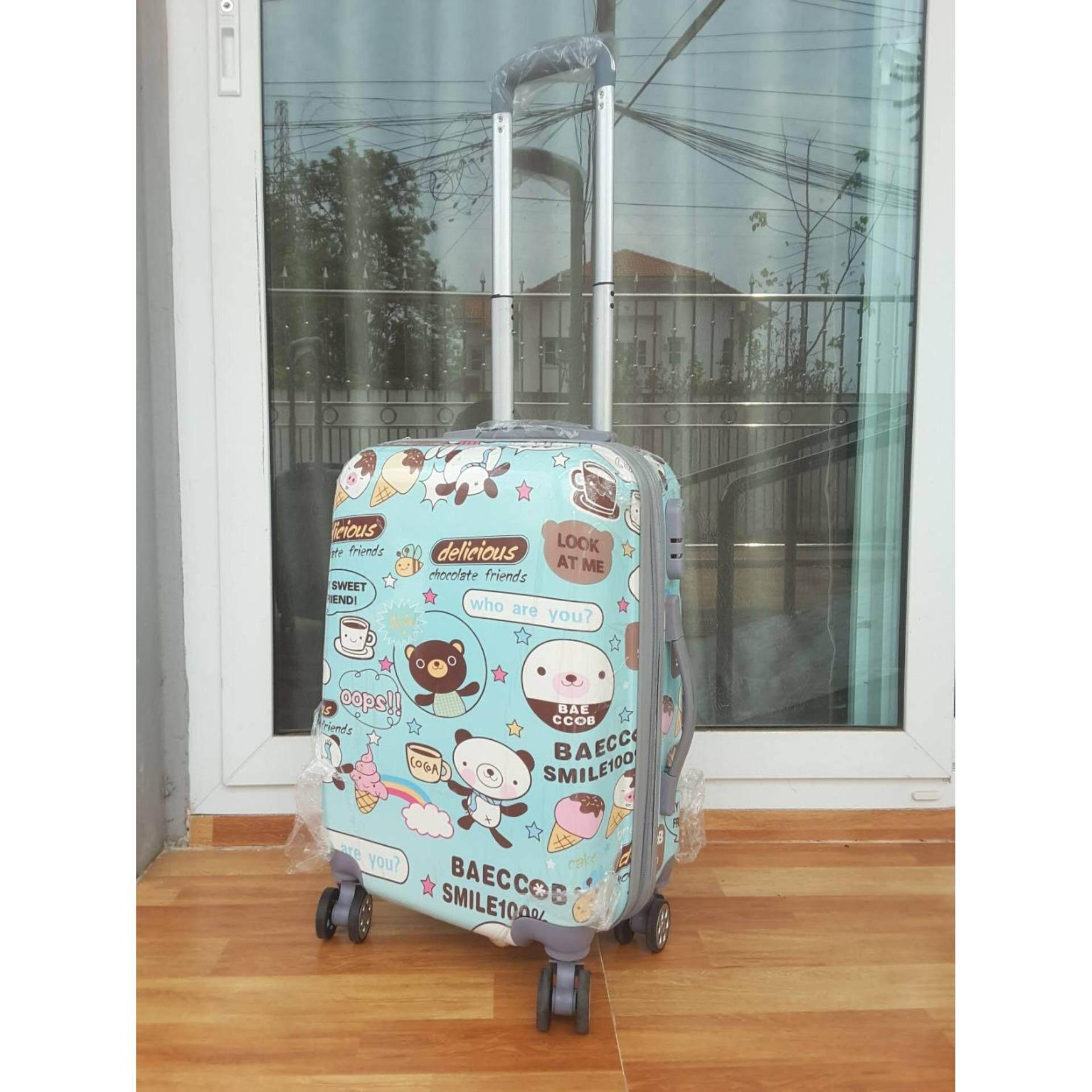 ราคา Tonkoon Shop กระเป๋าเดินทางล้อลาก ลาย การ์ตูนน้องหมีสีฟ้า ขนาด 20 นิ้ว เป็นต้นฉบับ