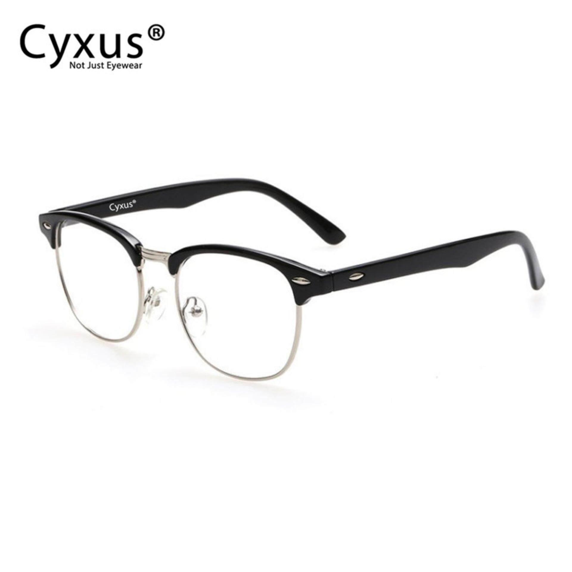 ขาย Cyxus ครึ่งกรอบแว่นกันแสงสีฟ้าแว่นสำหรับคอมพิวเตอร์ป้องกันการเมื่อยล้าของสายตา Cyxus เป็นต้นฉบับ